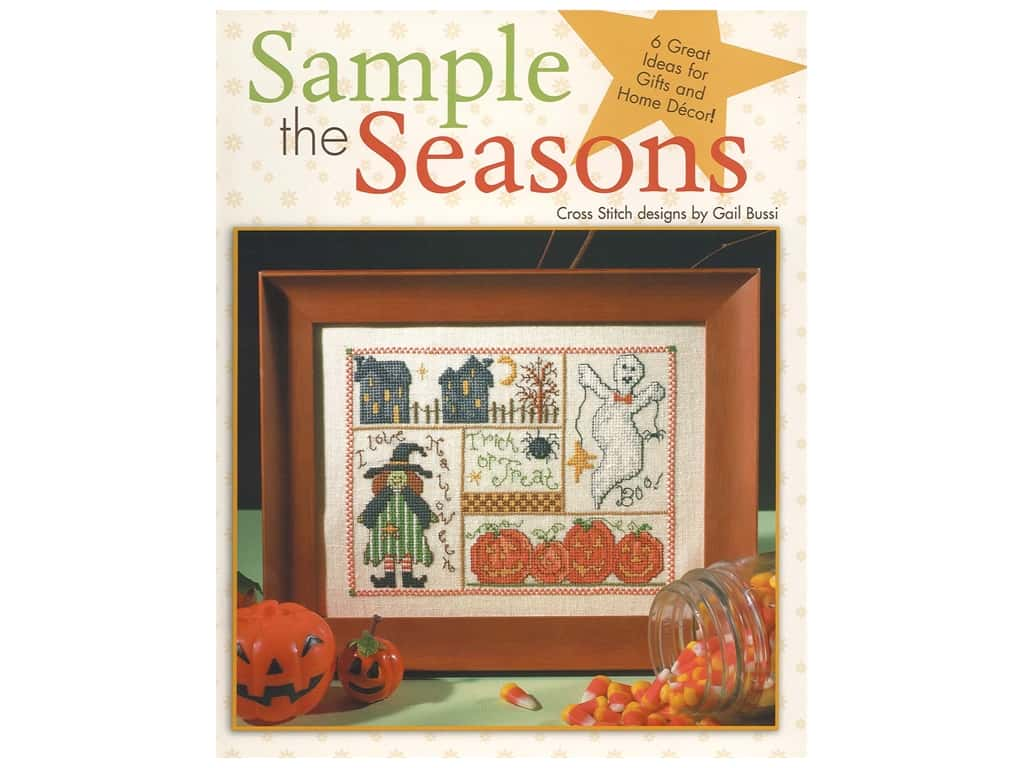 Leisure Arts Sample The Seasons Cross Stitch Book