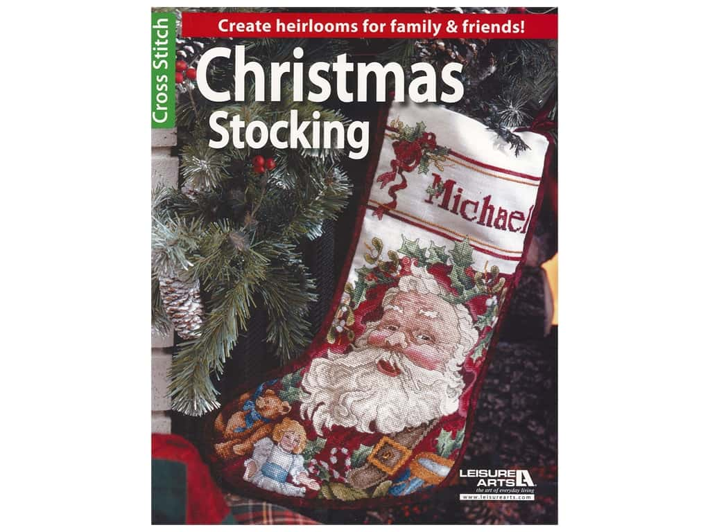 Leisure Arts Christmas Stocking Cross Stitch Book