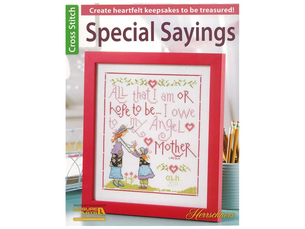 Leisure Arts Special Sayings Cross Stitch Book