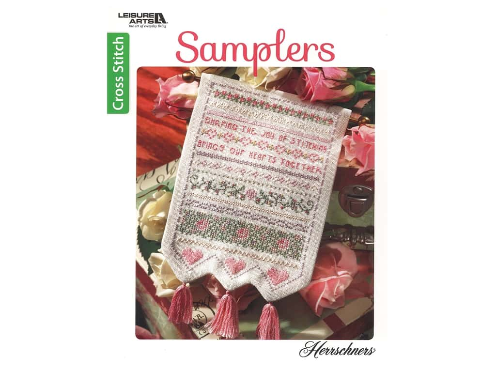 Leisure Arts Samplers Cross Stitch Book