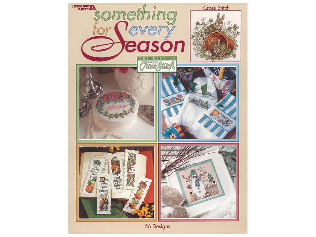 Leisure Arts Something For Every Season Cross Stitch Book