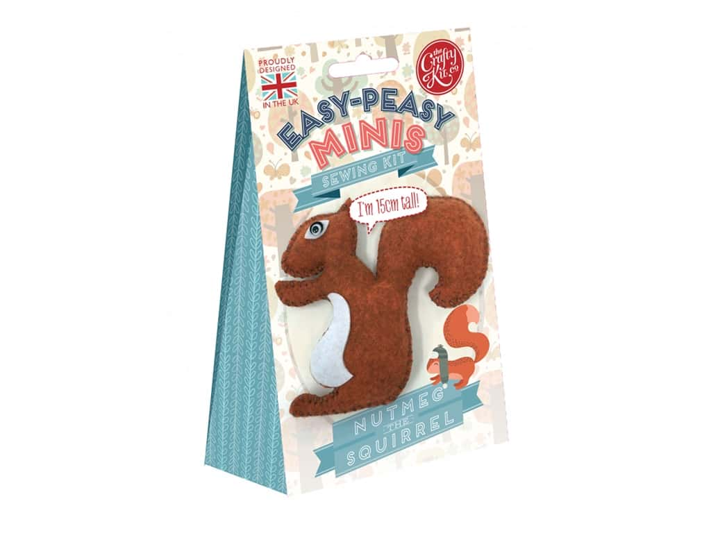 Crafty Kit Company Kit Sewing Mini Nutmeg The Squirrel