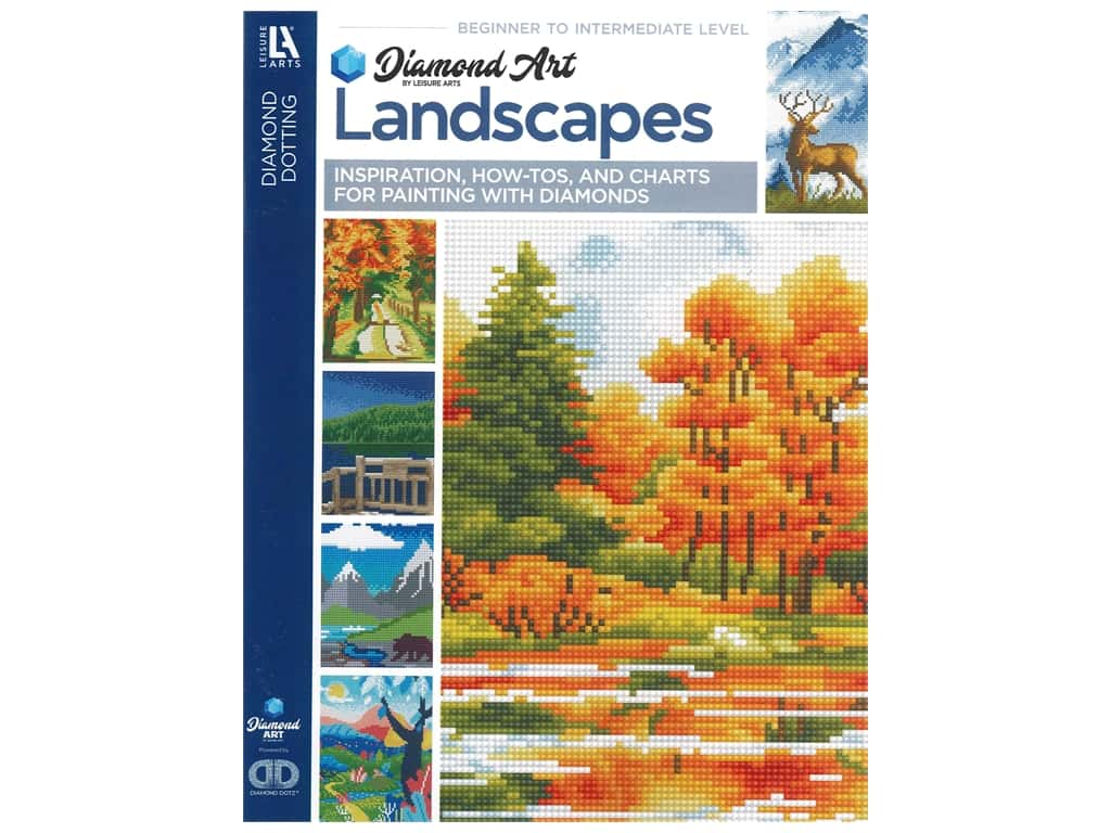 Diamond Art By Leisure Arts Freestyle Diamond Dotting Landscapes Painting Charts & Idea Book