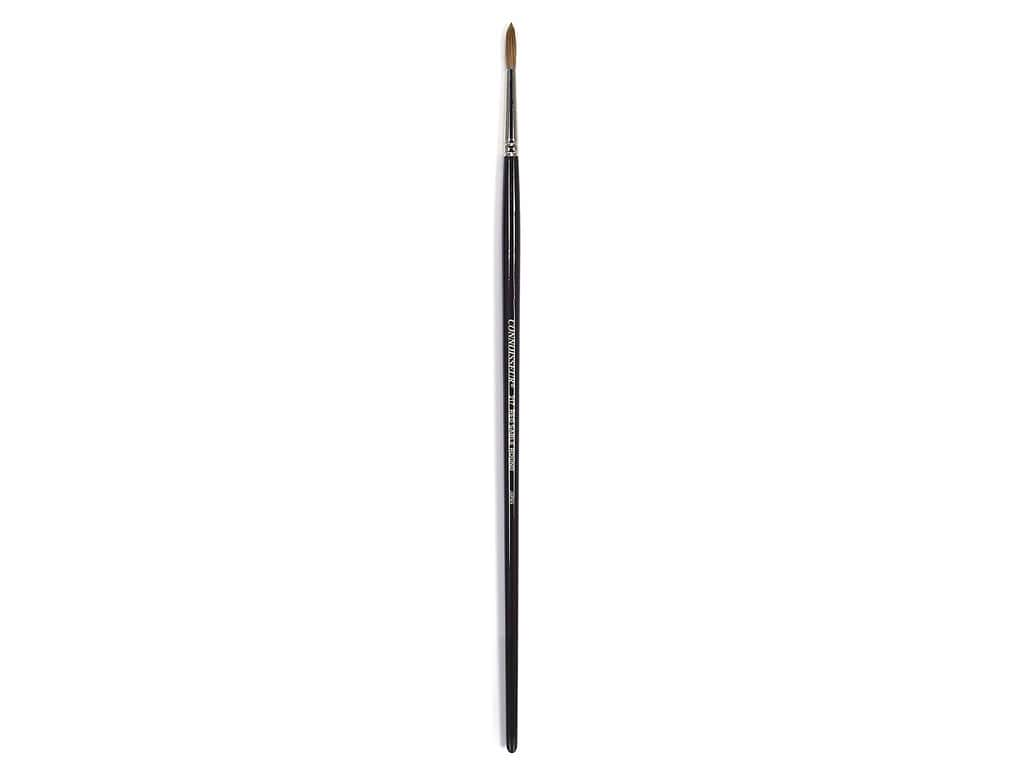 Connoisseur Pure Red Sable Brush Long Handle Round #0