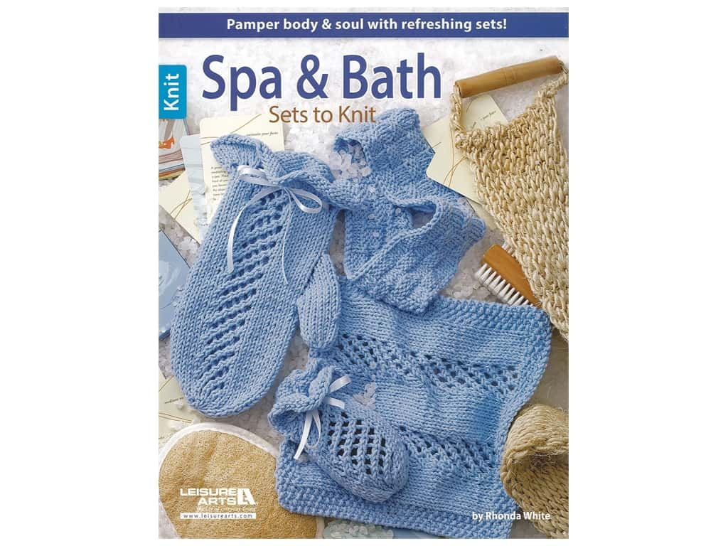 Leisure Arts Spa & Bath Sets To Knit Book