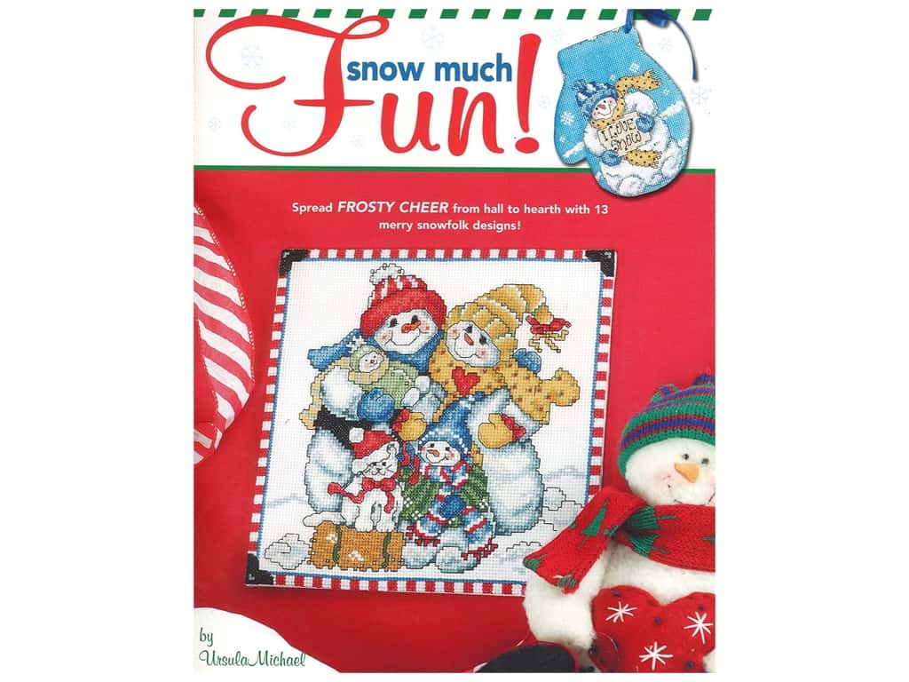 Leisure Arts Snow Much Fun Cross Stitch Book