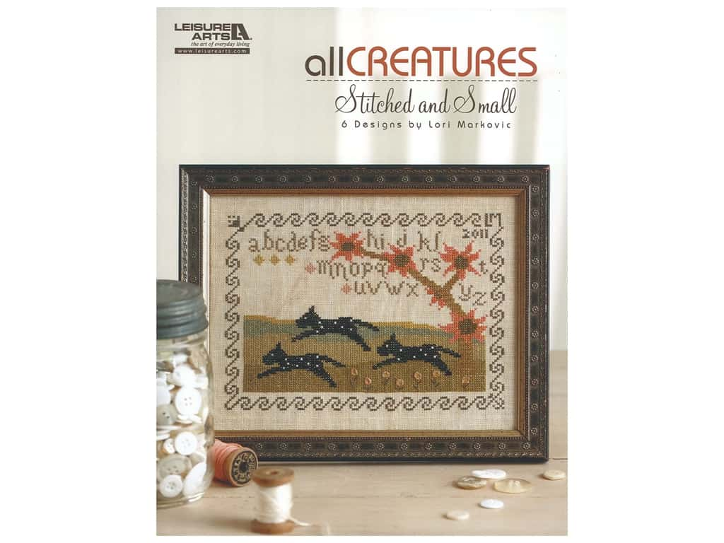 Leisure Arts All Creatures Stitched and Small