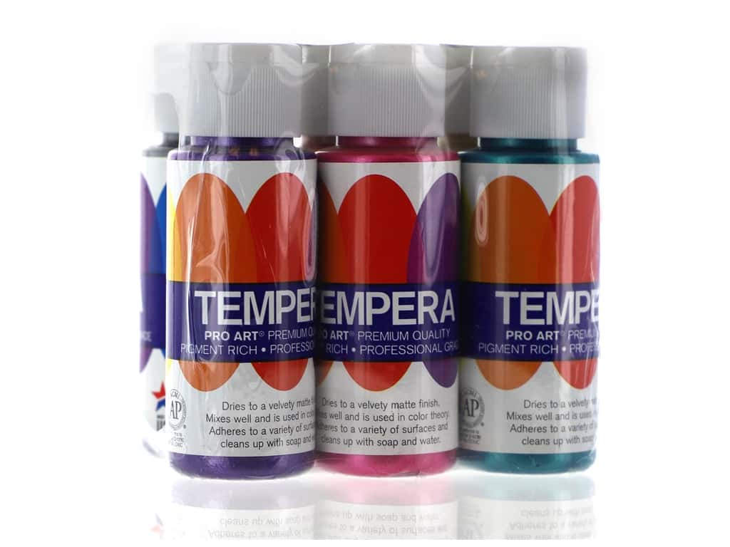 Pro Art Tempera Paint Set - Pearlescent 6 pc.