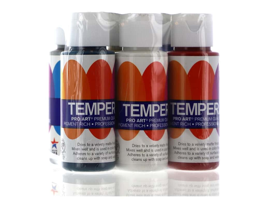 Pro Art Liquid Tempera Paint Set 6 pc. Classic