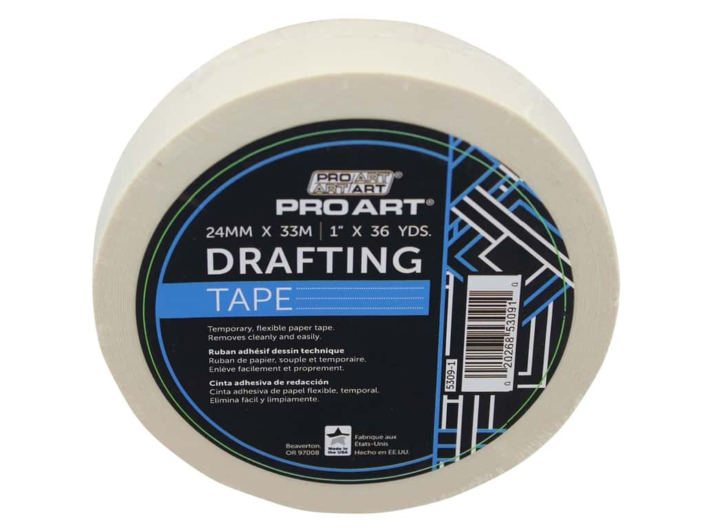 Pro Art Tape Drafting 1 in. x 36 yd