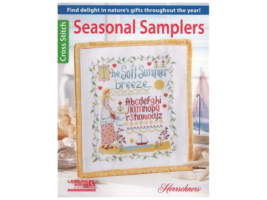 Leisure Arts Seasonal Samplers Cross Stitch Book