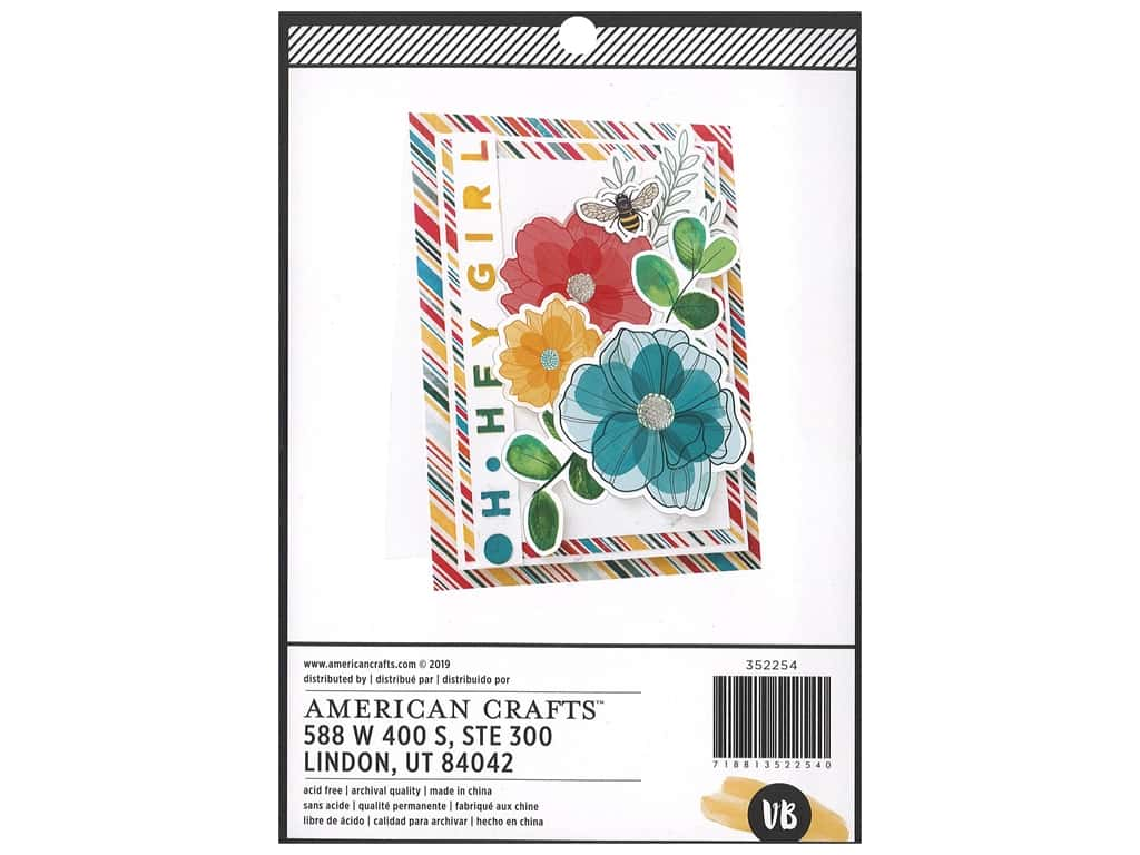 American Crafts Collection Vicki Boutin Wildflower & Honey Paper Pad 6 in. x 8 in.