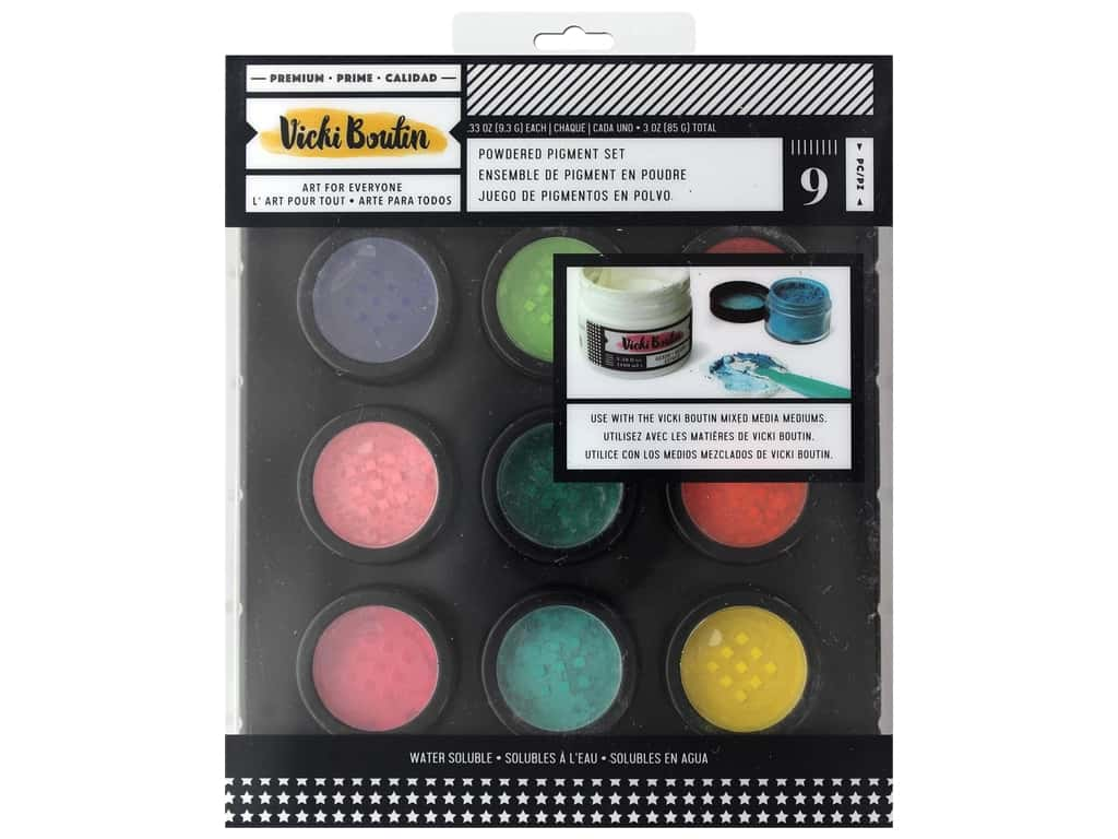 American Crafts Collection Vicki Boutin Wildflower & Honey Dry Powder Paint Pigments 9 pc