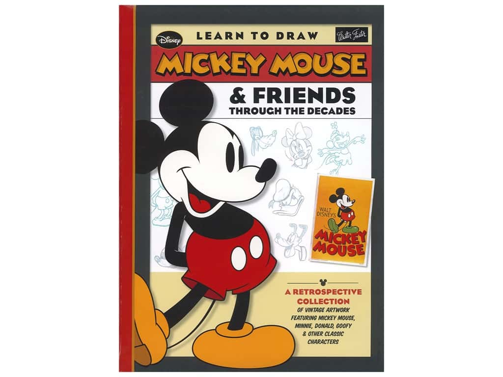 Walter Foster Mickey Mouse & Friends Through the Decades Book