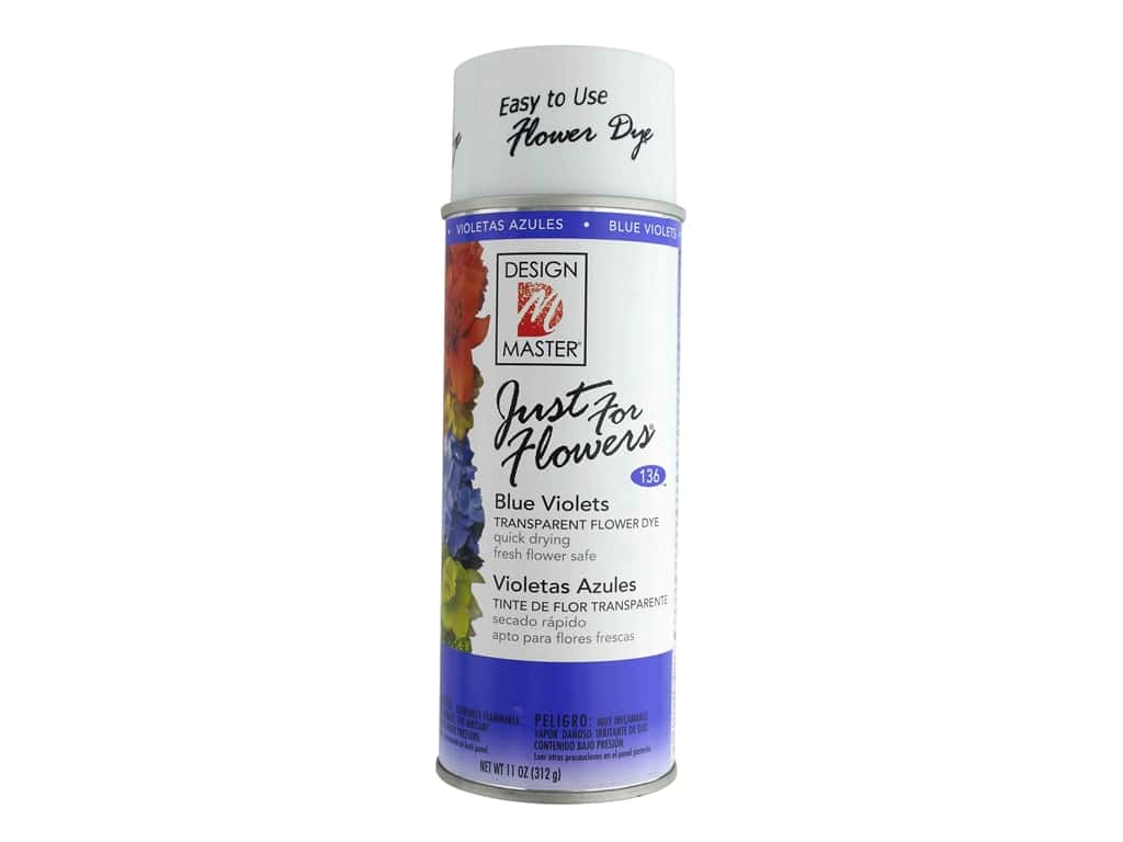 Design Master Just For Flowers Spray Dye 11 oz. #136 Blue Violets