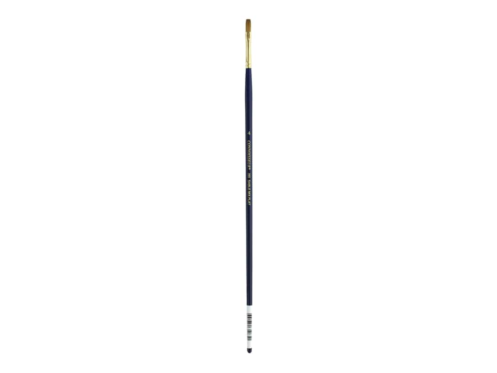 Connoisseur Red Sable/Golden Taklon Mix Brush Long Handle Flat #4
