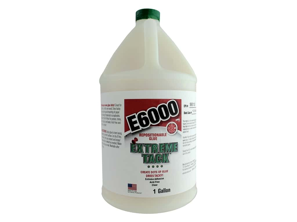 Eclectic Adhesive E6000 Extreme Tack 1 Gallon (2 gallons)