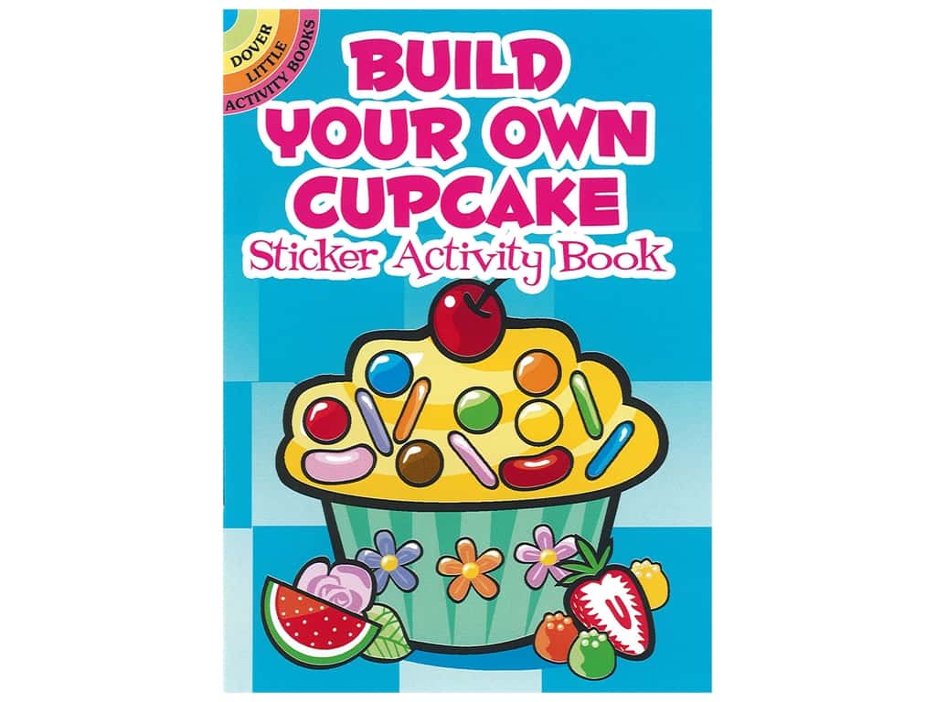 Dover Publications Little Build Your Own Cupcake Sticker Activity Book