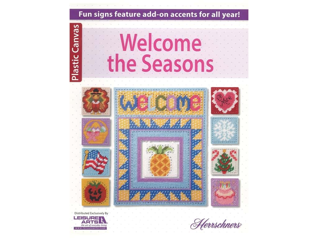 Leisure Arts Plastic Canvas Welcome The Seasons Book