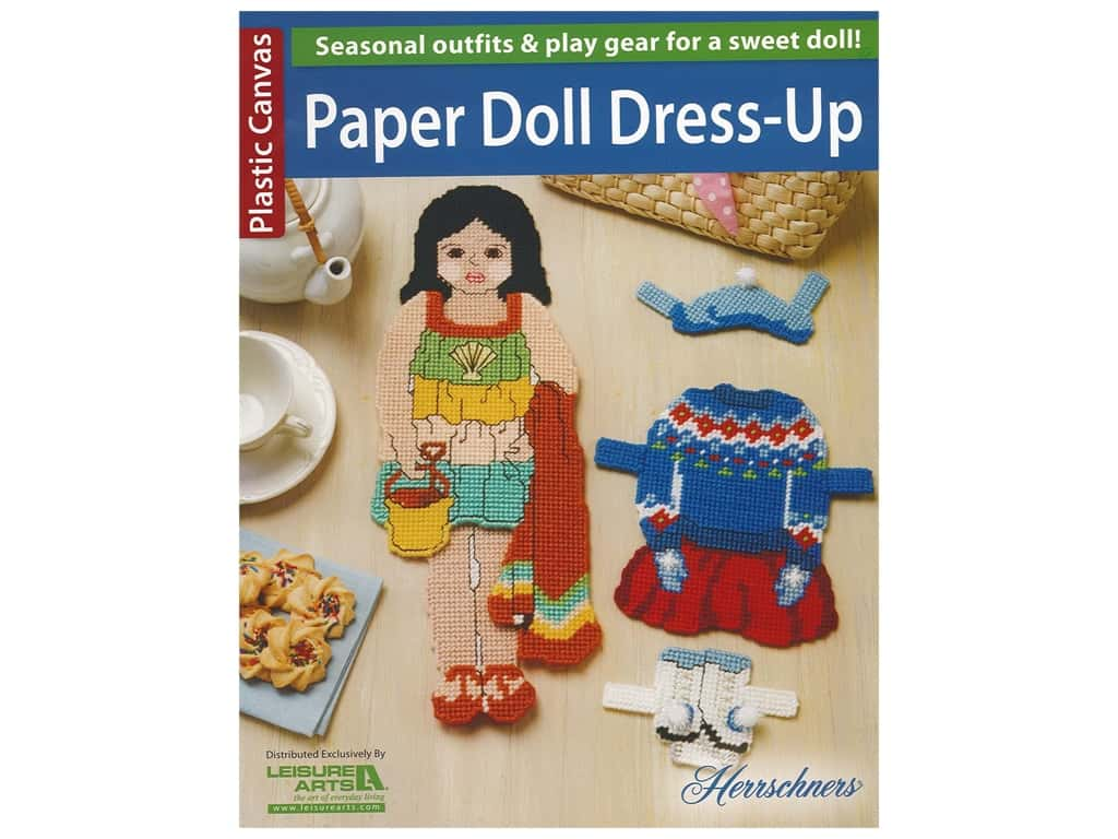 Leisure Arts Plastic Canvas Paper Doll Dress Up Book