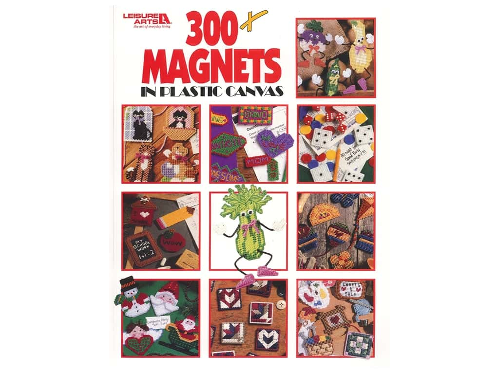Leisure Arts 300+ Magnets In Plastic Canvas Book