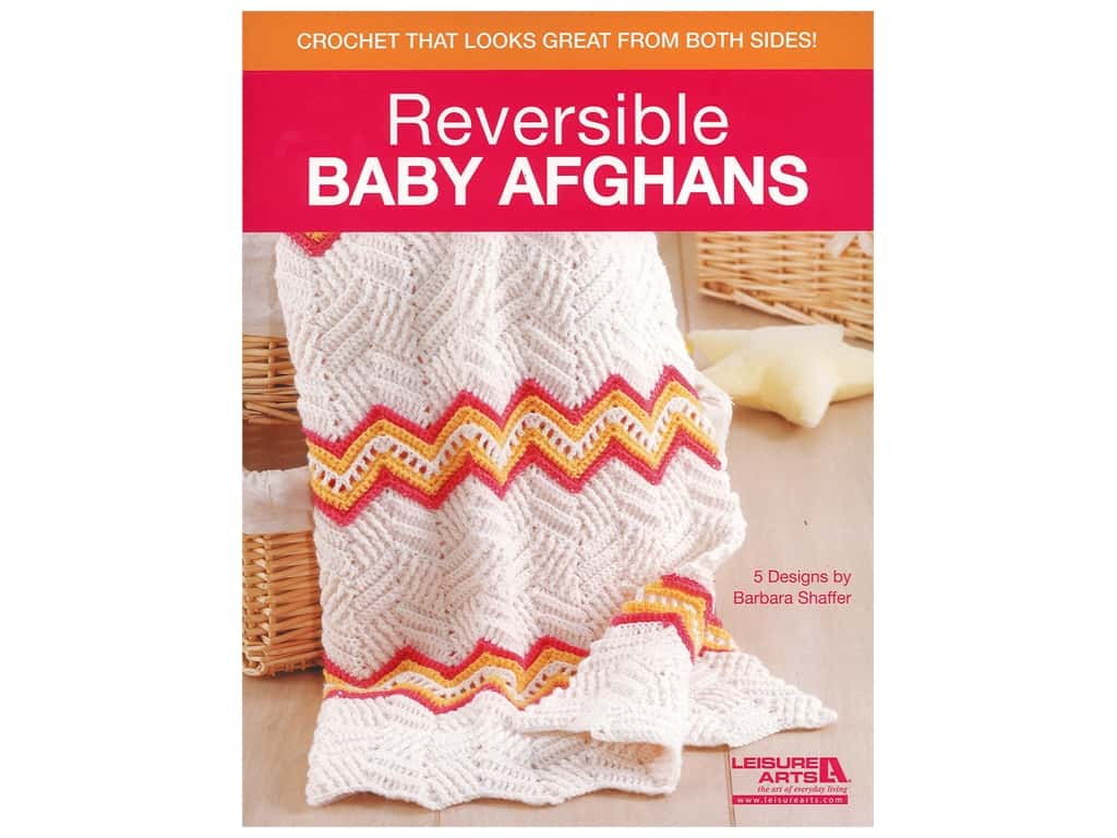 Leisure Arts Reversible Baby Afghans Book