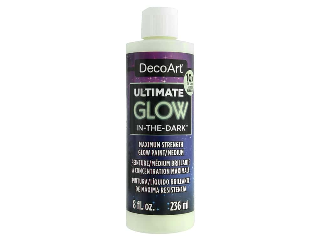 DecoArt Glow In The Dark Paint Ultimate 8 oz