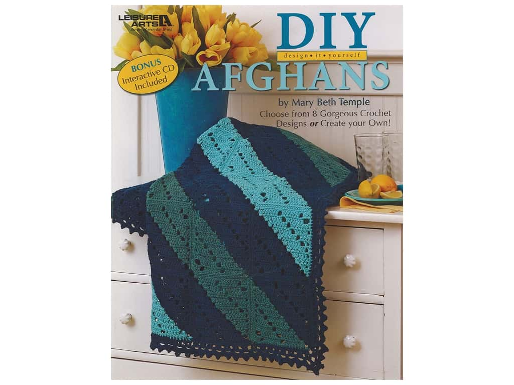 Leisure Arts Design It Yourself Afghans CD & Book