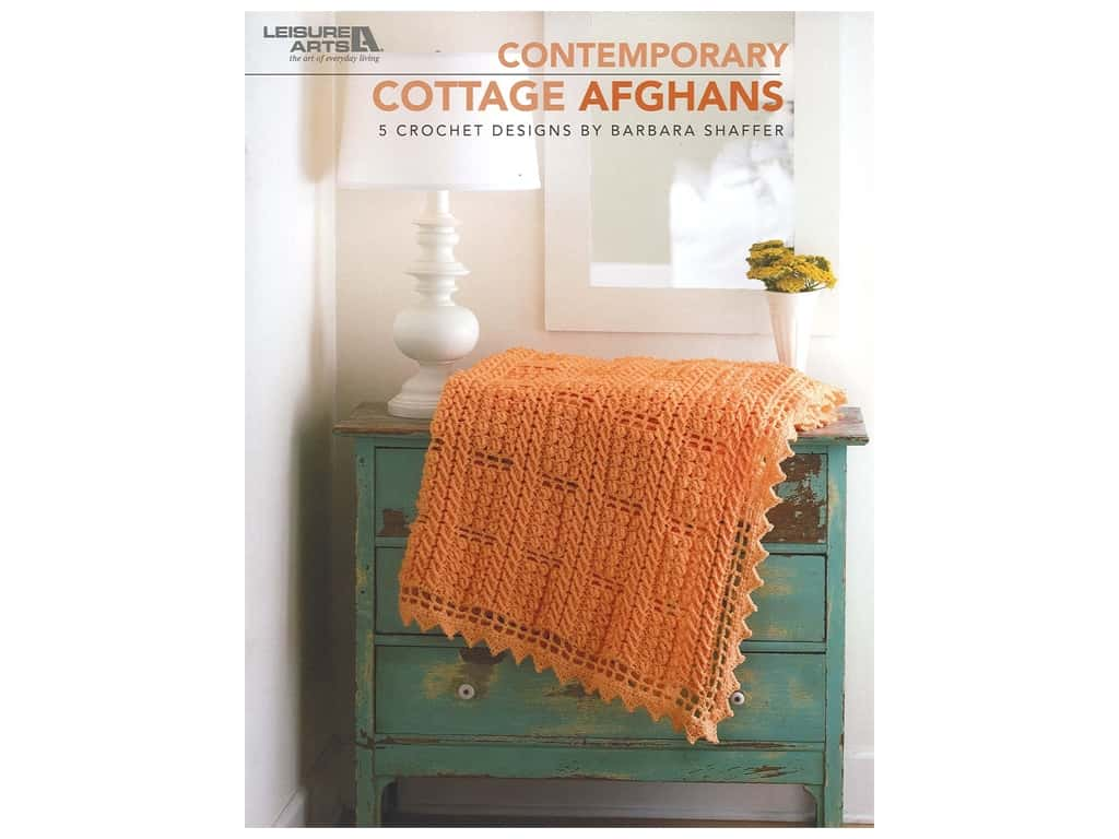 Leisure Arts Contemporary Cottage Afghans Book
