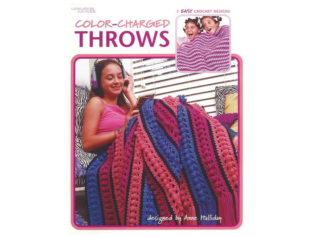 Leisure Arts Color Charged Throws Book
