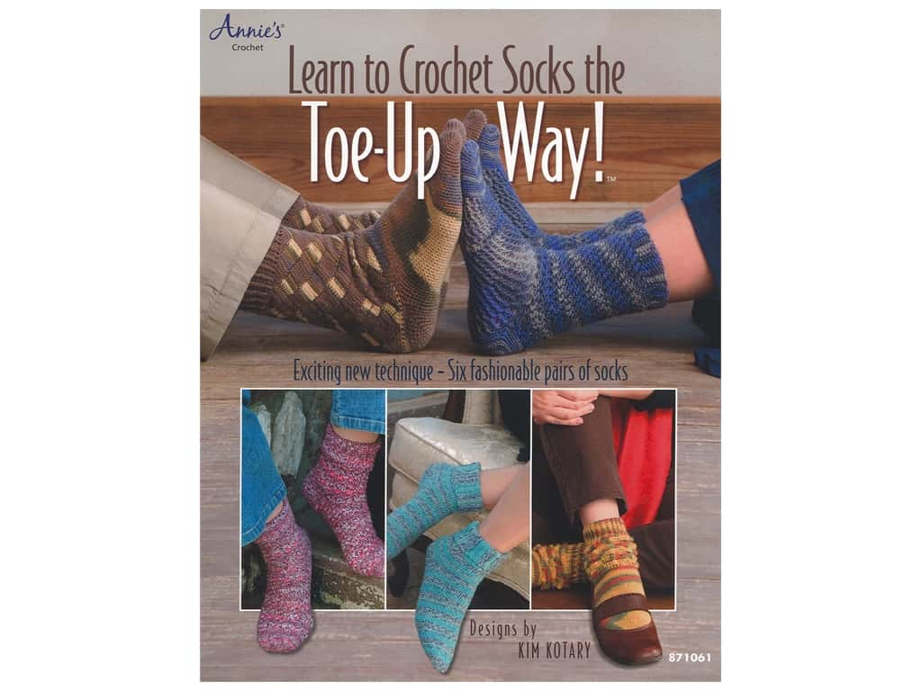 Learn to Crochet Socks the Toe Up Way! Book
