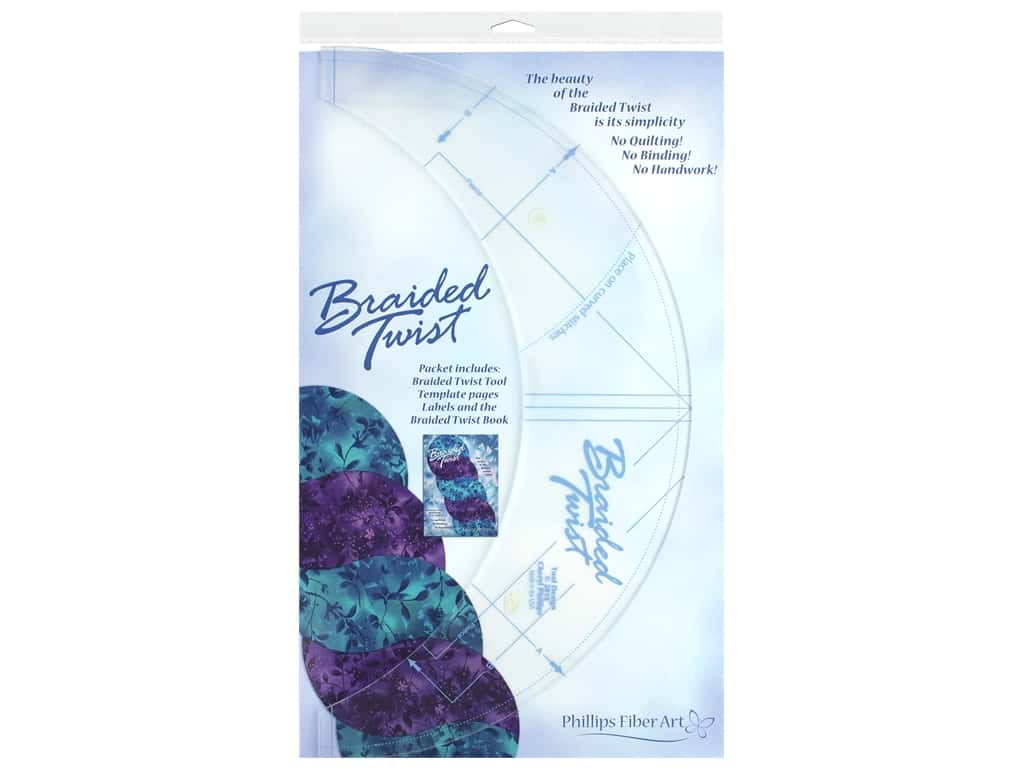 Phillips Fiber Art Braided Twist Tool And Book