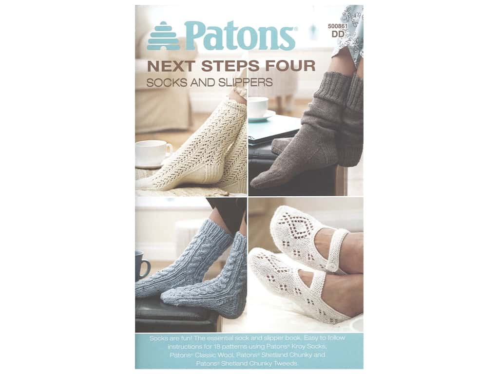 Patrons Next Steps Four Socks And Slippers Knit Book
