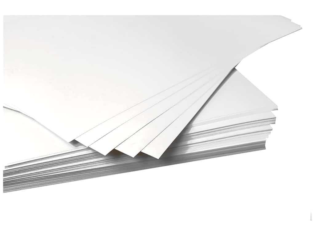 Pro Art Poster Board 22 in. x 28 in. 4 ply White 100 pc (100 pieces)