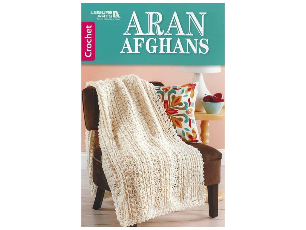 Leisure Arts Crochet Aran Afghans Book