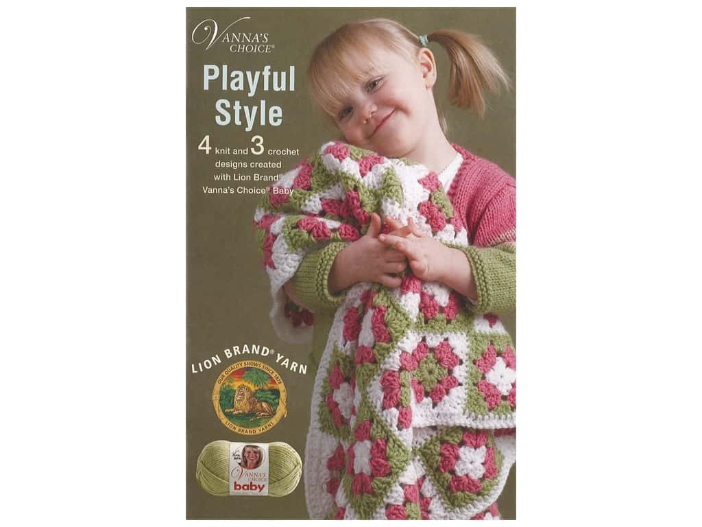 Leisure Arts Vanna's Choice Playful Style Crochet Book