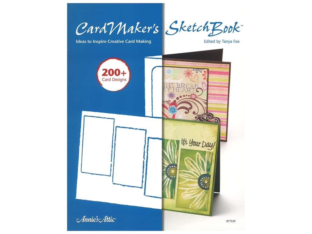 Annie's Cardmaker's Sketch Book Ideas To Inspire Creative Card Making Book