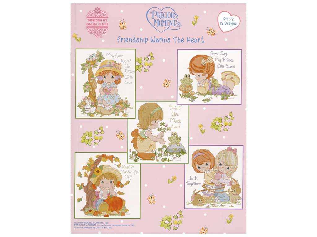 Precious Moments Friendship Warms The Heart Cross Stitch Book