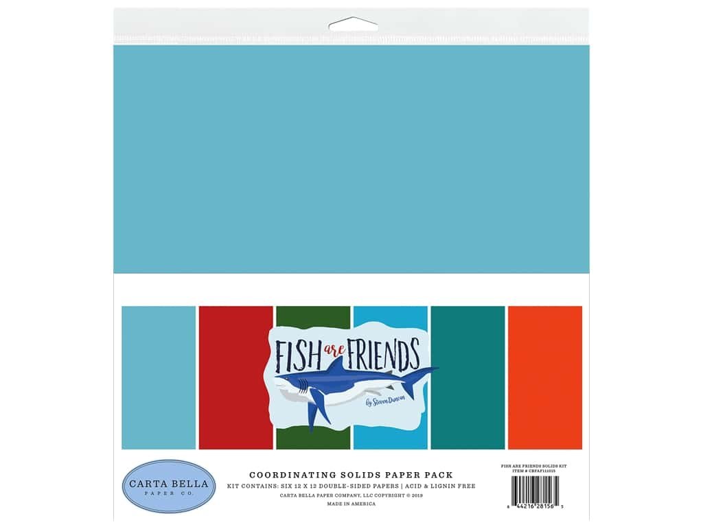 Carta Bella Fish Are Friends Solids Kit