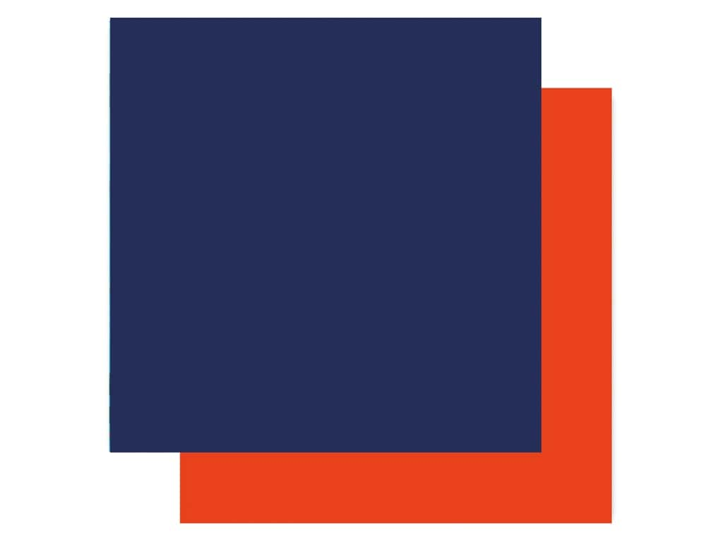 "Carta Bella Fish Are Friends Paper 12""x 12"" Dark Blue/Orange (25 pieces)"