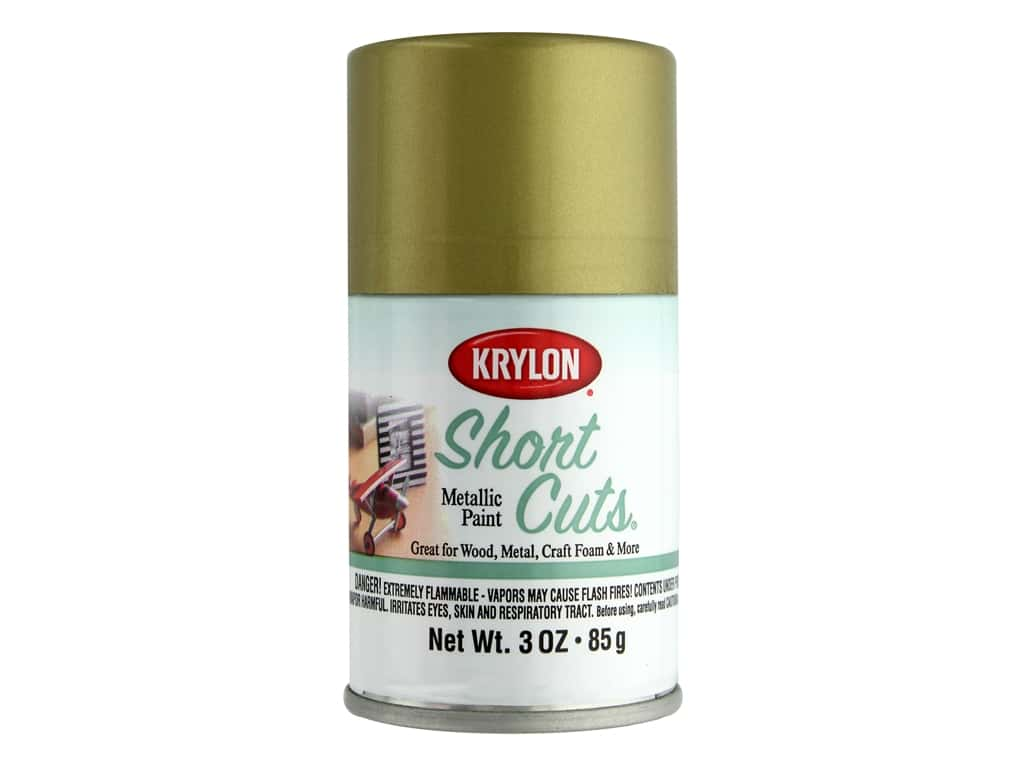 Krylon Shortcuts Aerosol Paints 3 oz. Gold Leaf