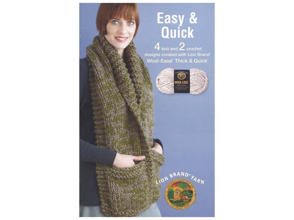 Leisure Arts Lion Brand Easy And Quick Book