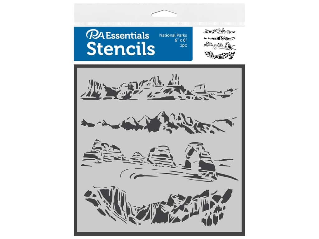 PA Essentials Stencil 6 in. x 6 in. National Parks