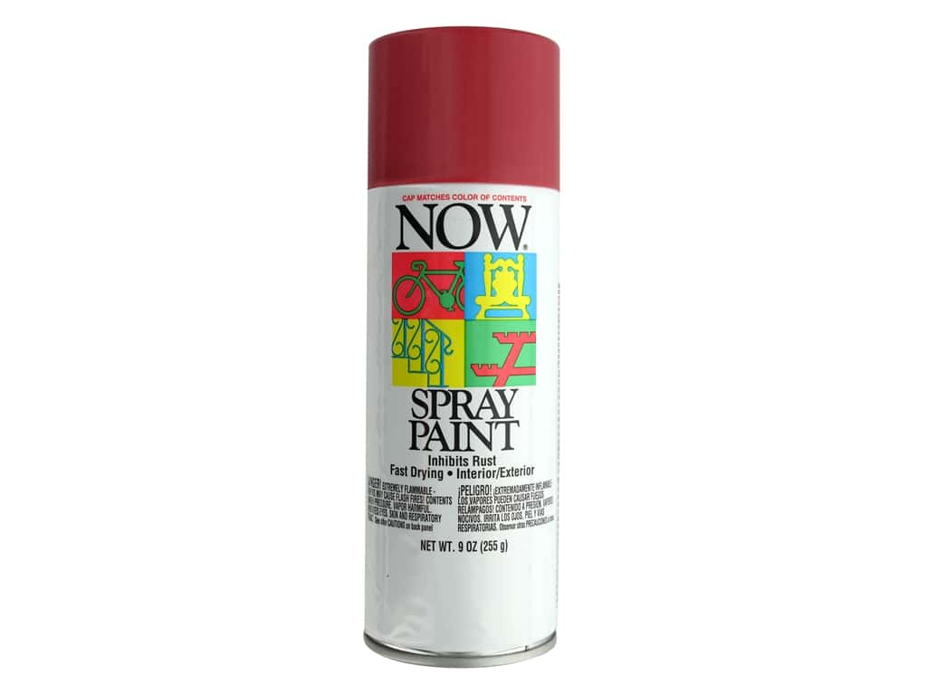 Krylon Now Spray Paint 9 oz. Wagon Red