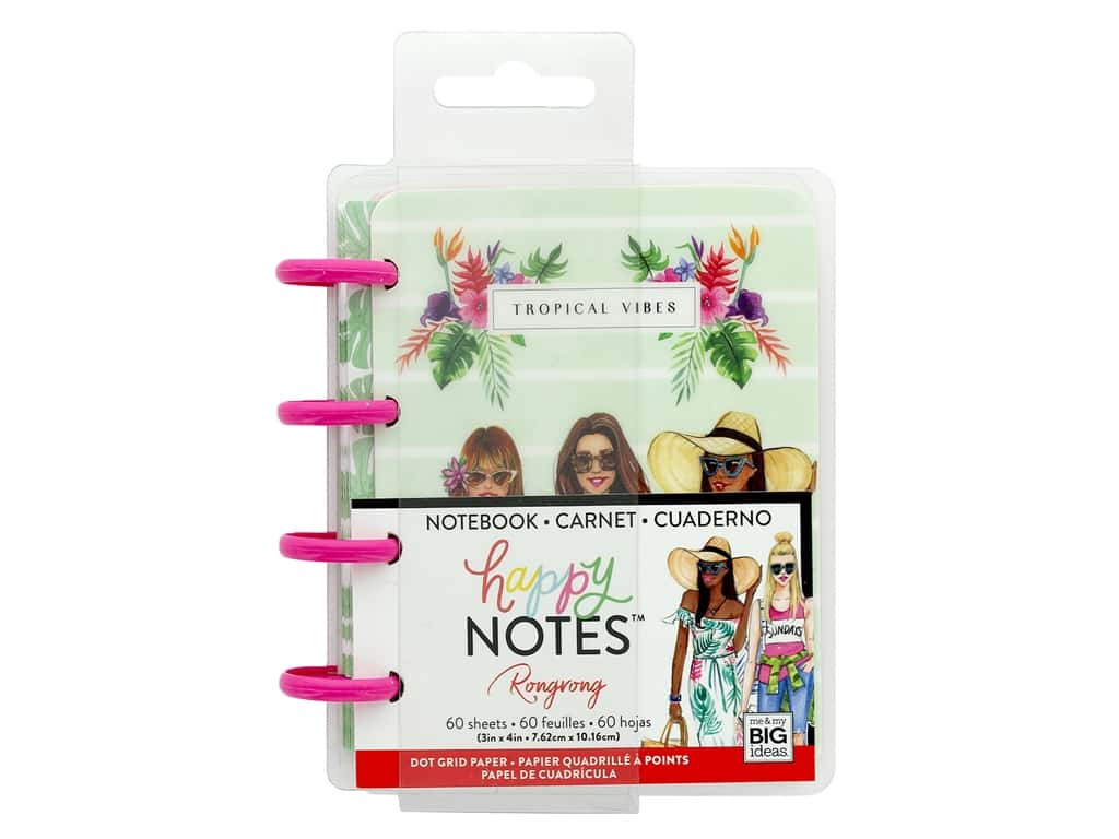 Me&My Big Ideas Happy Planner Rongrong Happy Notes Micro Tropical Vibes