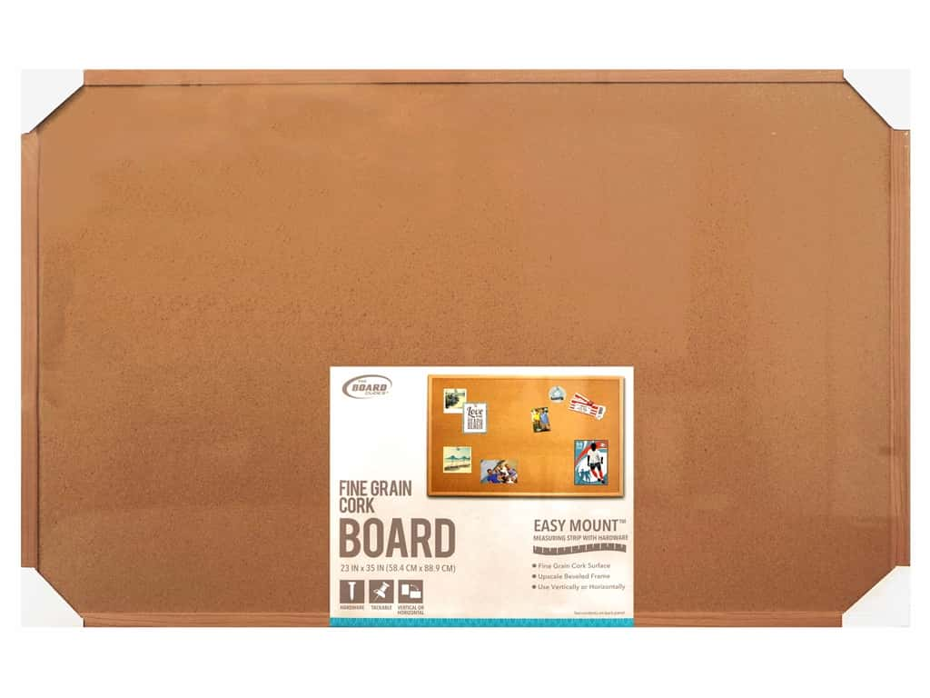 The Board Dudes Cork Bulletin Boards 23 x 35 in. Wood Frame