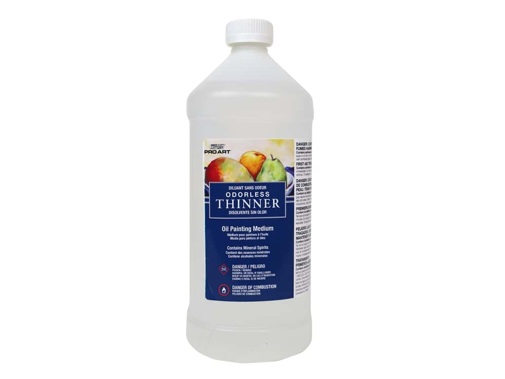Pro Art Oil Painting Odorless Thinner 32 oz.
