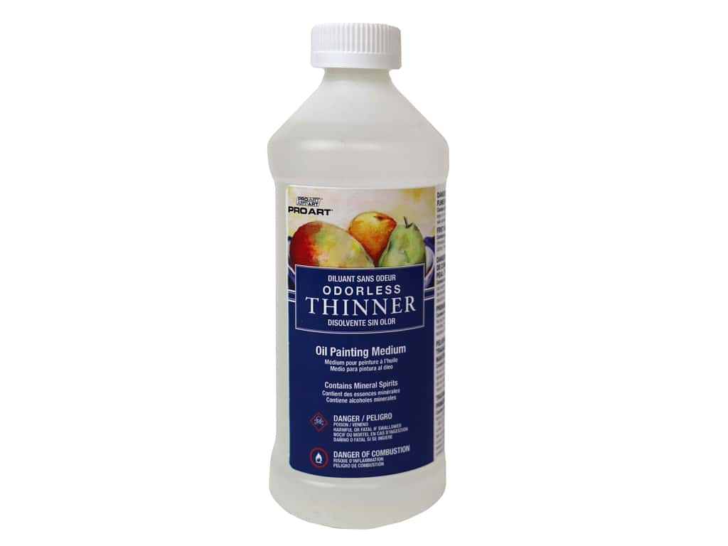 Pro Art Oil Painting Odorless Thinner 16 oz