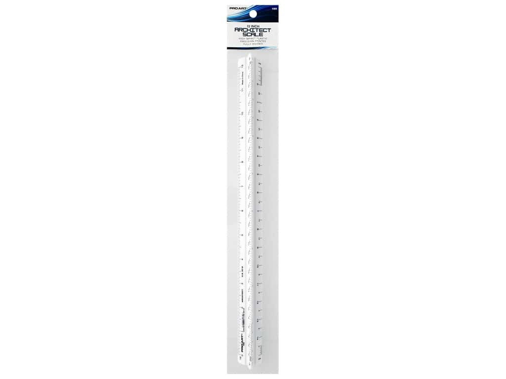 Pro Art Triangular Scale 12 in. Architectural White