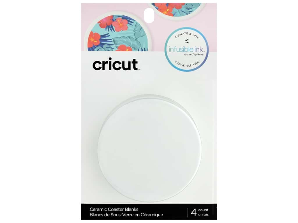 Cricut Infusible Ink Blank Coaster Round 4 pc